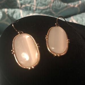 Kendra Scott LOOK ALIKES White in Gold Earrings